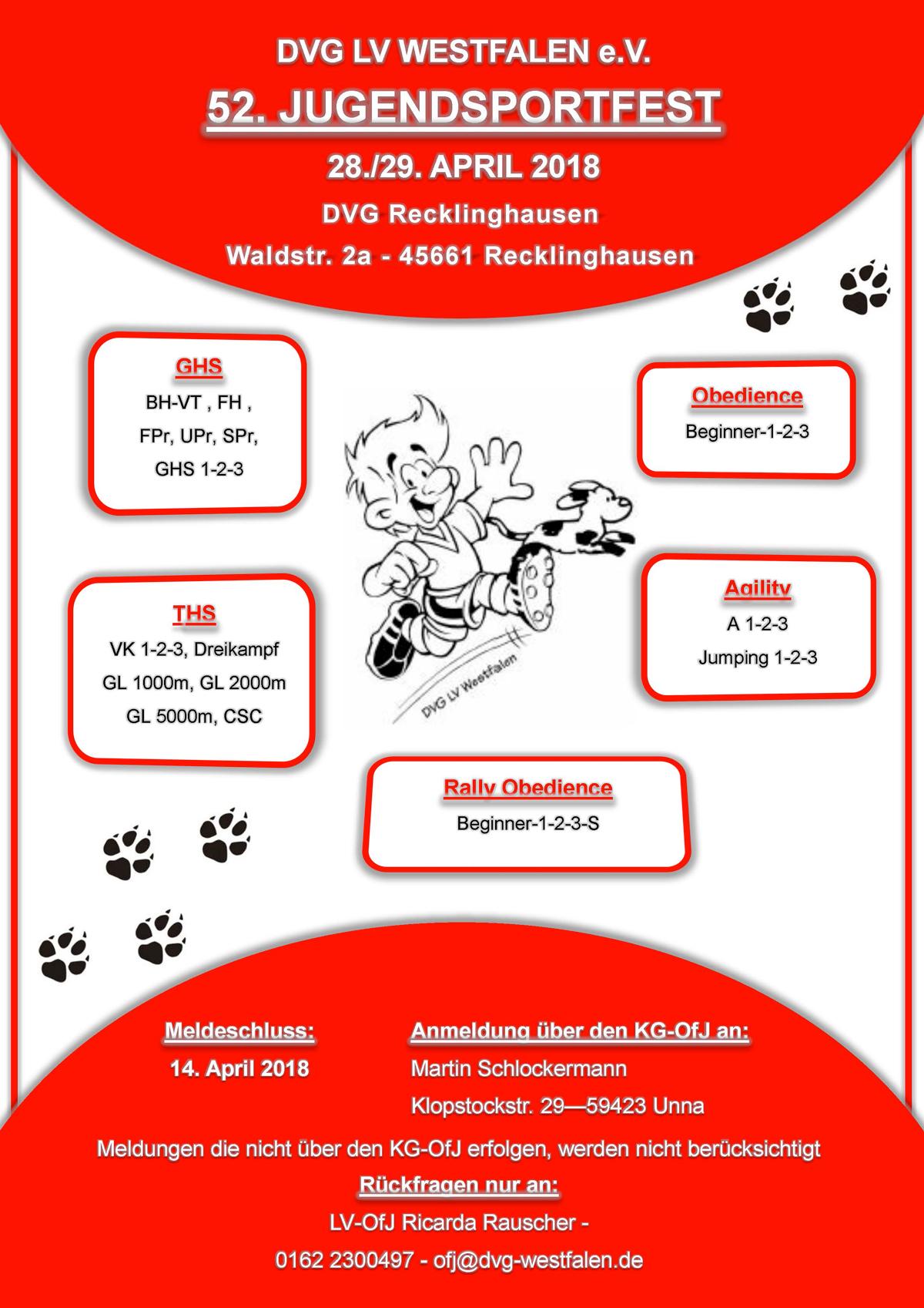 LV Jugendsportfest 28-29. April MV Recklinghausen @ MV Recklinghausen | Recklinghausen | Nordrhein-Westfalen | Deutschland